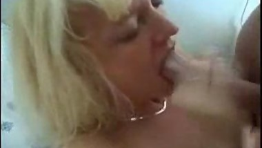 Mature milf mom fucks younger boy with facial sperm eating