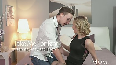 MOM Rampant Blonde has powerful orgasm from young stud