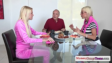 Busty swedish milf fucks NOT her stepdaughters bf