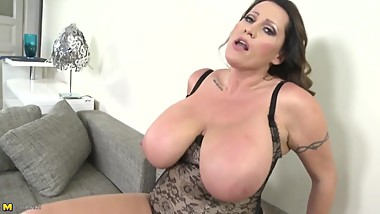 Mature busty wives and moms fuck young sons