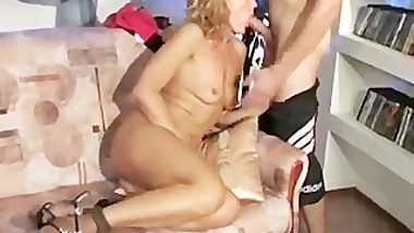 Russian guy fuck his sexy mom