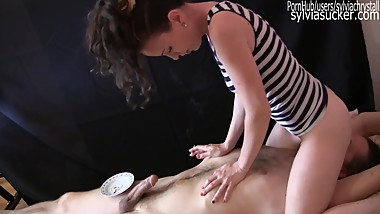 Spitting Femdom Smoking Facesitting & Cock Tease By Sylvia Chrystall