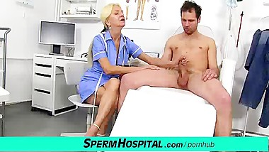 Dirty granny Vera enjoys a big dick handjob
