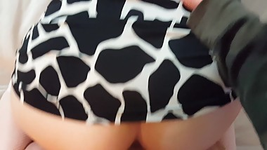 Wife's Big Beautiful Ass, Doggy, Reverse Cowgirl, POV Blow, Facial
