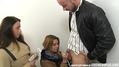 Amazing Busty Teen FROM SEXDATEMILF.COM and Her BF Gets Money for Public SE