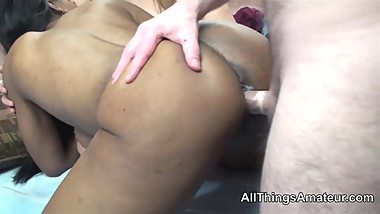Black and white mature women FROM SEXDATEMILF.COM share a cock
