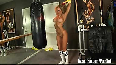 Brandi strip and work out