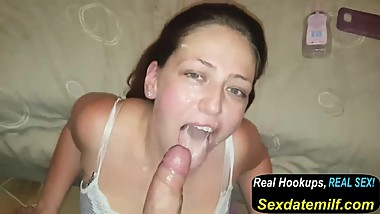 A Messy Milfy Facial Before Bedtime