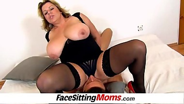 Muff diving with huge tits wife Silvy Vee
