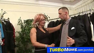 Hungarian grandma Judit has sex with a customer