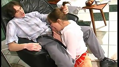 Horny young guy fucks mature housewife 13
