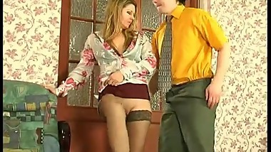 Horny young guy fucks mature housewife 21