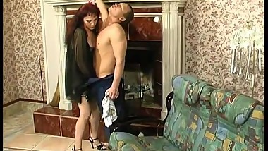 Horny young guy fucks mature housewife 22