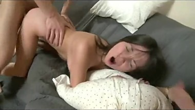Brunette from CasualMilfSex(dot)com moans when big cock enters her pussy