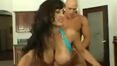 LISA ANN jumping on a big dick