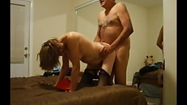 Senior Couple Having Sex Doggystyle with Wife Still Sexy