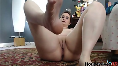 Licking feet and masturbates at the same time