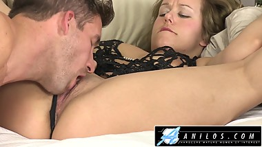 Cheating wife deepthroats and rides hard cock to gooey facial