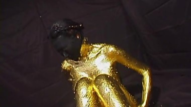 gold and black painted MILF
