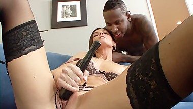 Tight MILF beauty India Summer gets big black dick