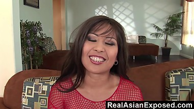 RealAsianExposed - Her first dp scene really makes her cum very hard