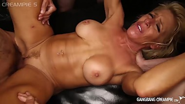 Gilf Gina Gets pounded by a gang of guys