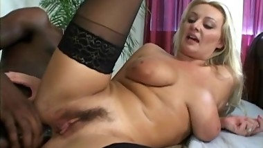 Blonde Loves BBC Up Her Ass