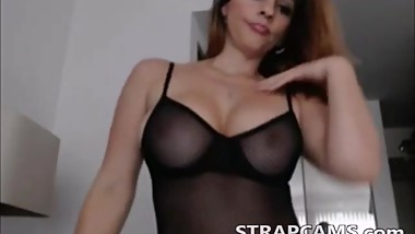 Busty milf with wonderful body teasing