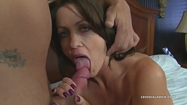 800DAD Big Tit Housewife calls Gigolo over to Fuck
