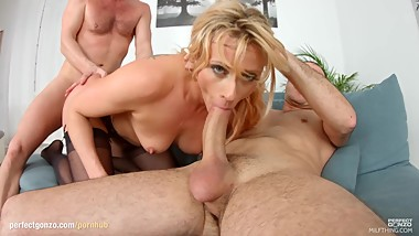 MILF THING brings you Brittany Bardot in milf hardcore gonzo scene