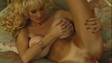 classic busty blonde milf Brittany O'Neil with sexy tanlines fucks cock