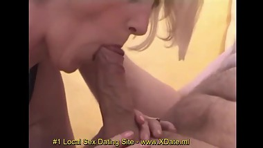 Cum on blonde milf ass