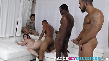 Milf Sara Jay Gets Three Long Black Schlongs