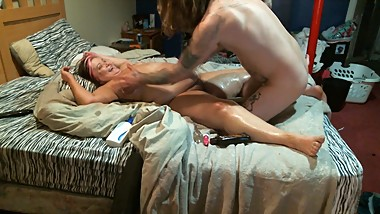 Baby oil massage and what happened next . . .