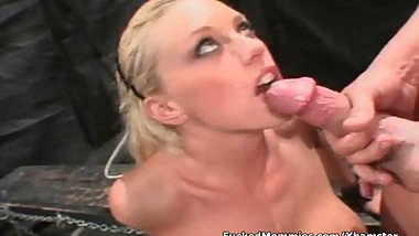 Huge titted blonde mom gets fucked by a master