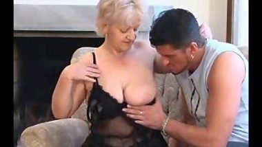 SEXY MOM n88 blonde bbw mature with a young man