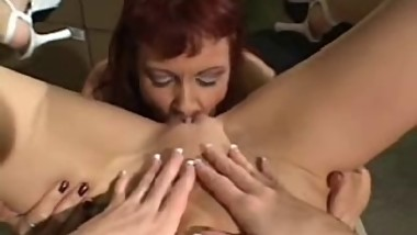 One dildo for two lesbians